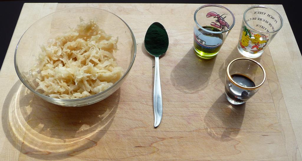 Ingrédients de la choucroute et spiruline